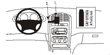 Brodit ProClip Montagekonsole für Chrysler Voyager Baujahr