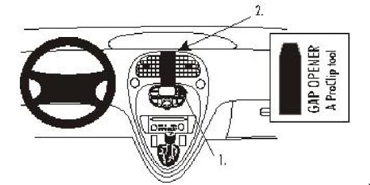 Brodit Proclip Console de Montage pour Citroen Xsara