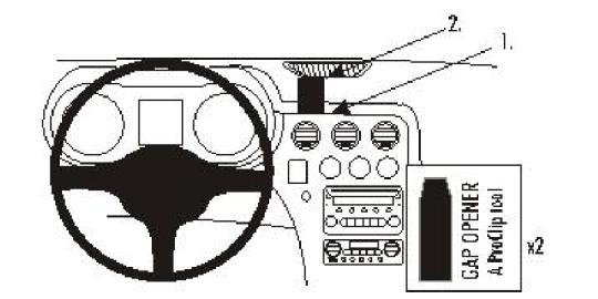 Brodit ProClip 853743 für Alfa Romeo 159 / Brera / Spider