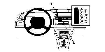Brodit ProClip 854127 Montagekonsole für Citroen C4