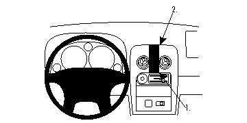 Brodit ProClip 854466 für Mazda Miata / Mazda MX-5