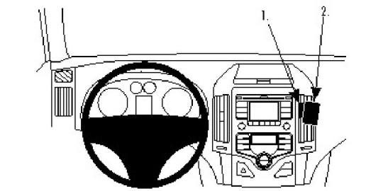 Brodit ProClip 854810 Montagekonsole für Hyundai i30