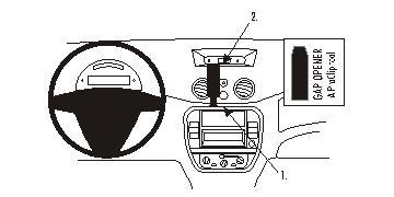Brodit ProClip 853750 für Citroen C2 / C3 / Pluriel