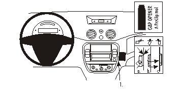 Brodit ProClip 853751 für Citroen C2 / C3 / Pluriel