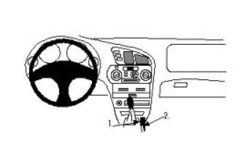 Brodit Proclip Mitsubishi Lancer/Colt 96-console