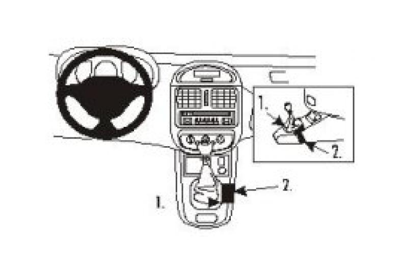 Brodit Proclip Renault Clio 99- console. angled