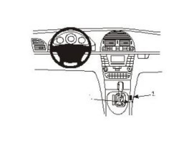 Brodit Proclip Mercedes E-klasse 02- console