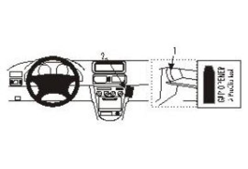 Brodit Proclip Toyota Corolla 98-laag angled