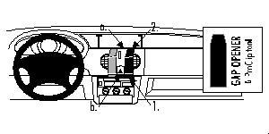 Brodit proclip 852532 Renault Kangoo 98-02 For Europe