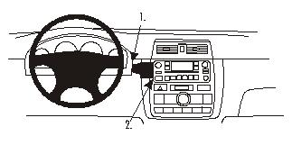 Brodit ProClip Center mount Toyota Avensis Verso/SportsVan