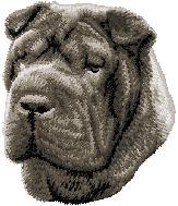 Hundbrodyr Sharpei svart