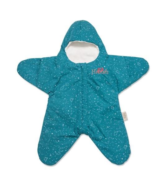 Sovsäck baby utformad som en stjärna med brodyr.