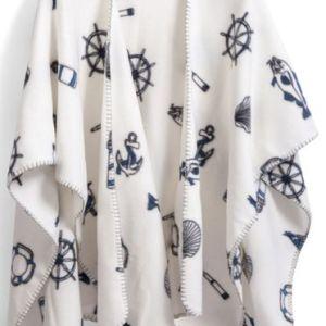Brodyrverksta´n Ab - Poncho med maritimt mönster
