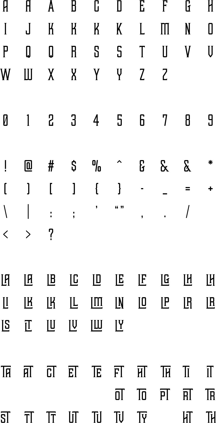 tehaus-glyphs