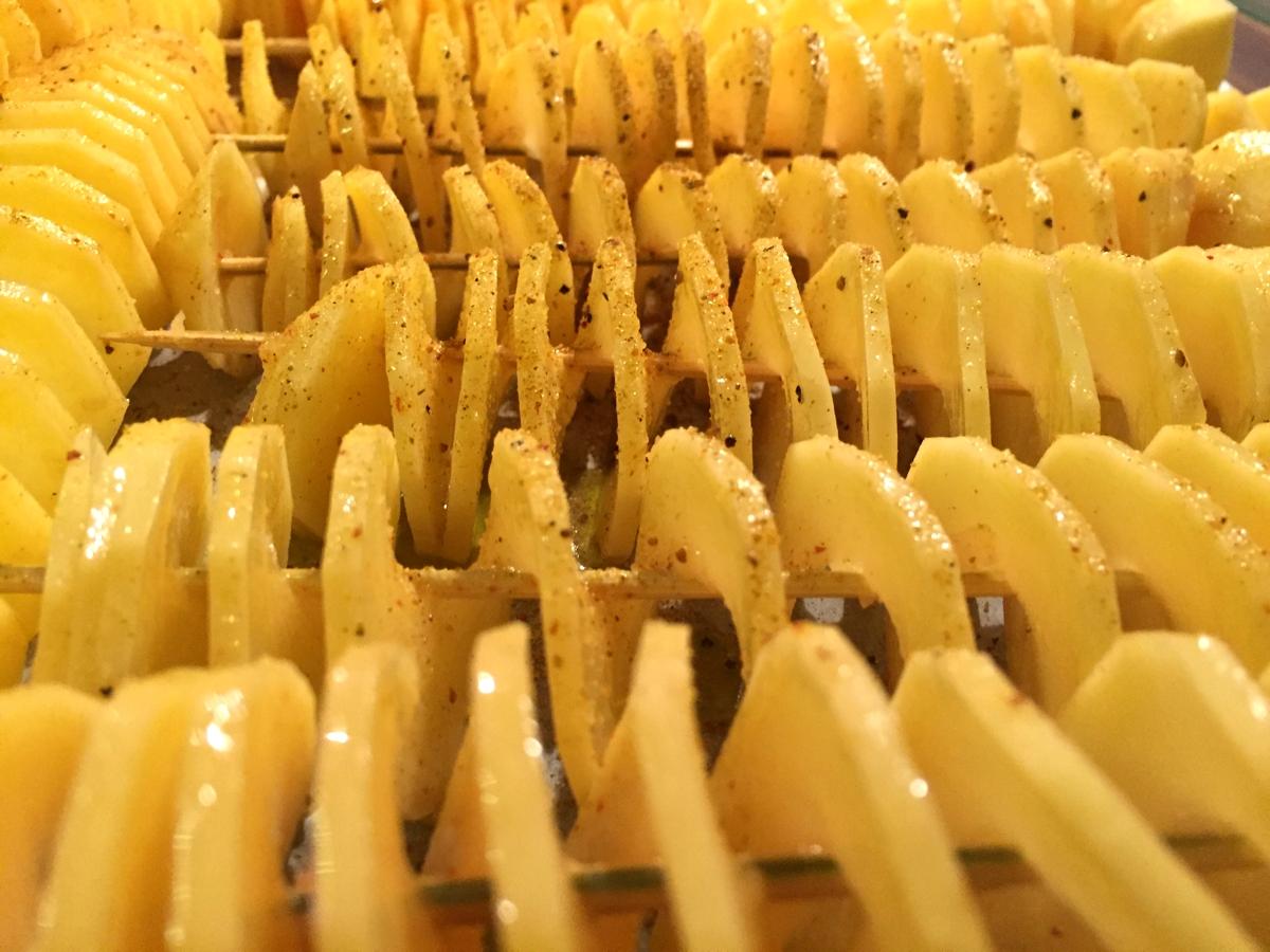 Kartoffeln aus dem Spiralschneider