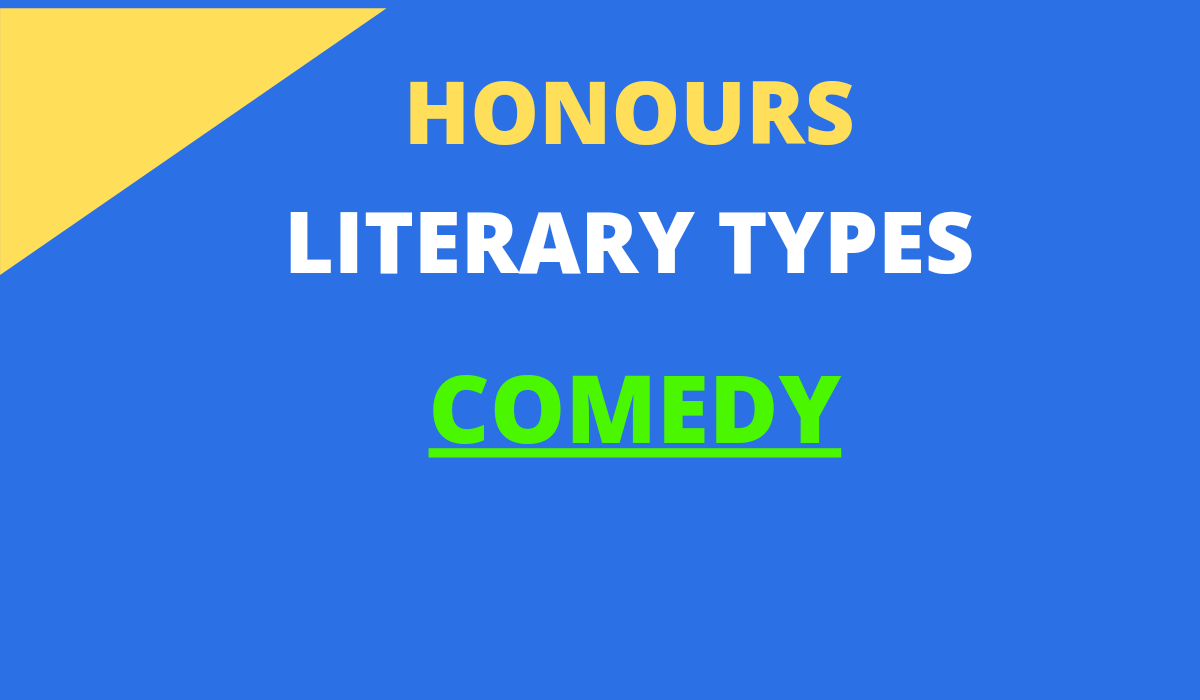 COMEDY LITERARY TYPES QUESTION ANSWER