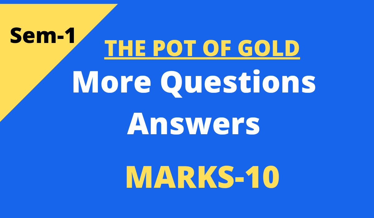 the pot of gold questions and answers