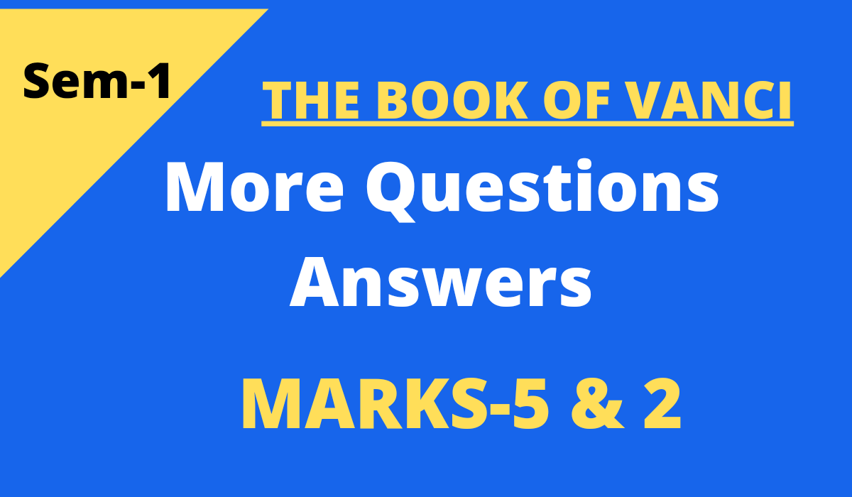 The Book of Vanci questions and answers