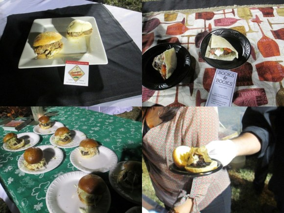 Anacapri (top left), Greek Burger from Books and Books (top right), Chipotle Burger from John Martin's (bottom left), and Christy's slider (bottom right)
