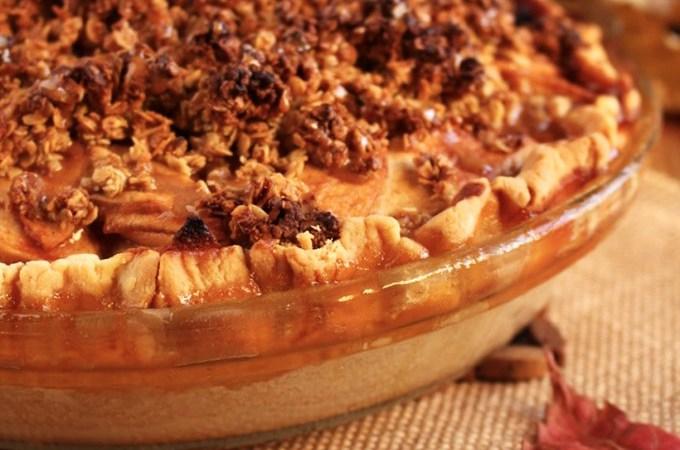The best Vegan Apple Crumble Pie !