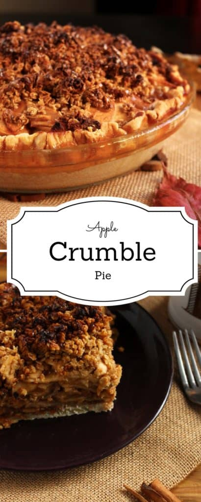 Apple Crumble Pie - Do you want to celebrate fall without the use of pumpkins ? I can help you with that. It's called apple crumble pie, and it's the bomb