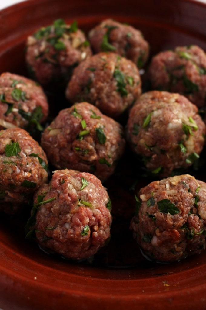 Moroccan Meatballs - Forget what you know about meatballs and make these for dinner. They are soft, moist and did I mention Paleo ? Yes sir, this is meatball satisfaction -IdrissTwist.com