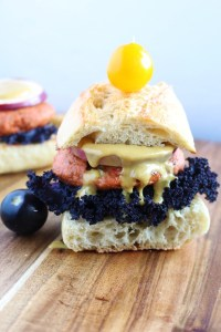 Salmon Burger- This salmon burger is a game changer ! It combines the savoury and subtle taste of salmon and awesome twist on the classic Dijon -Brokefoodies.com