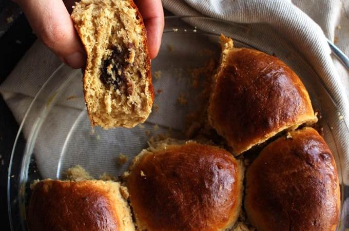 Easy Chocolate Filled Buns