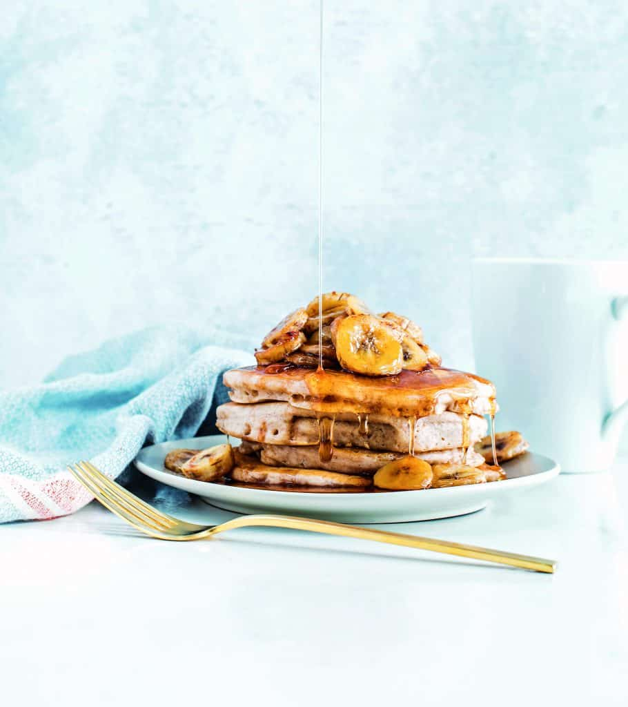 Vegan Pancakes With Roasted Bananas - From the Frugal Vegan Cookbook, comes a recipe that not only is delicious but is so simple it will surprise you!