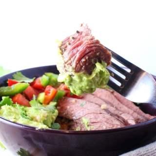 Keto Burrito Bowl – Steak & Pico de Gallo