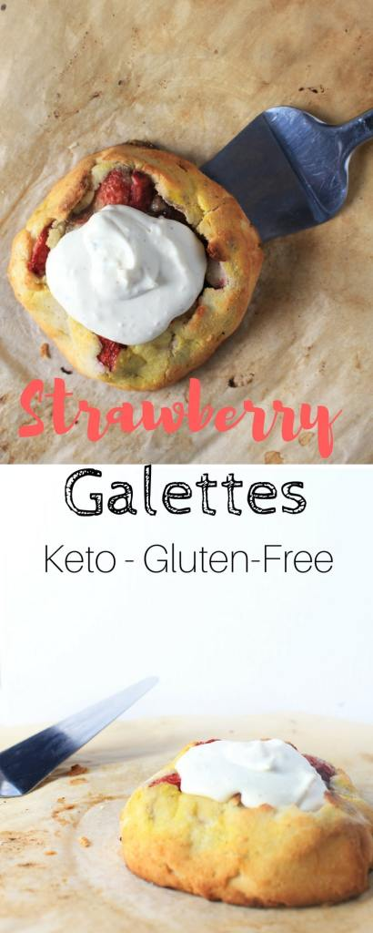Keto Strawberry & Almond Butter Galettes - Easy, Straightforward Low-Carb & Gluten-Free Dessert.