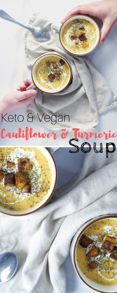 Keto Turmeric Soup Recipe - This Turmeric Based Recipe is both Vegan and Keto. It's the perfect cold remedy if you are feeling a little under the weather.