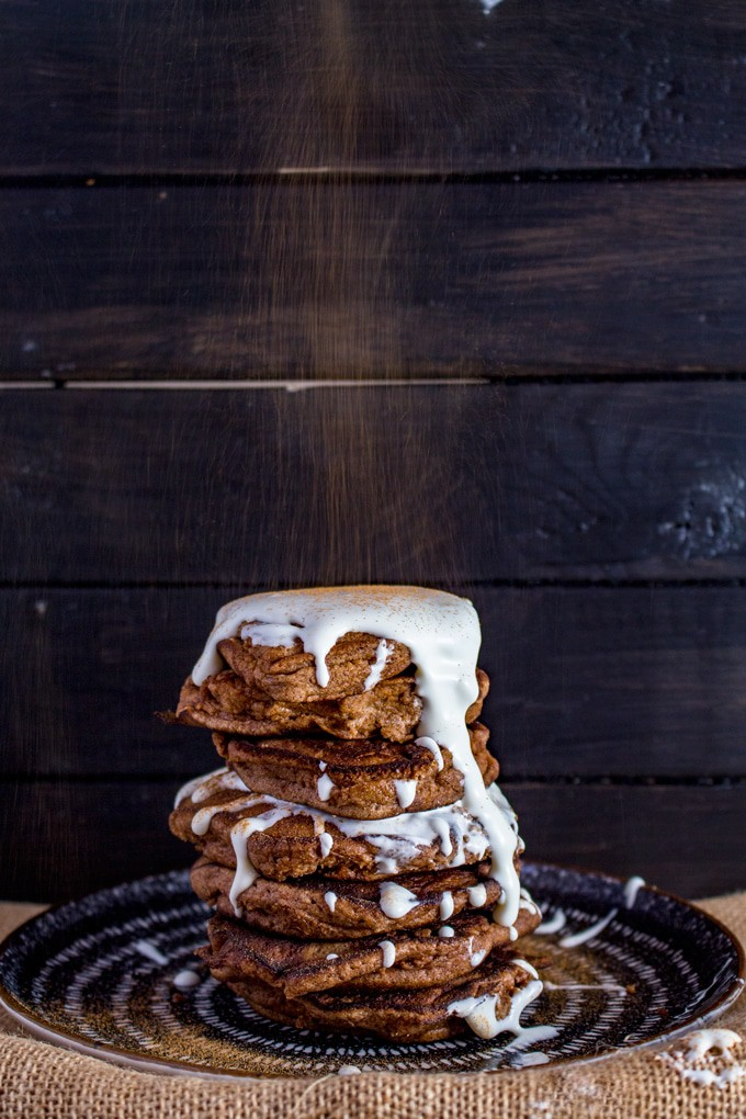 Keto Cinnamon Roll Pancakes with Cream Cheese Frosting – Easy, Gluten-free, fuss-free and sugar-free. This is the breakfast you always wanted to have.