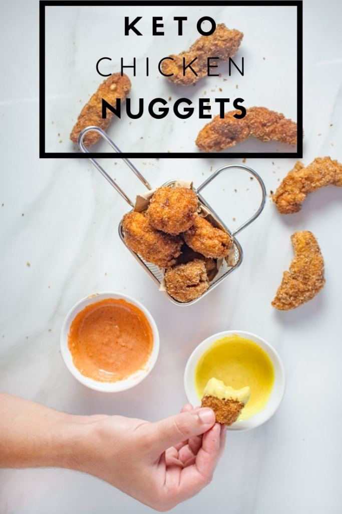 Keto Chicken Nuggets | Crispy and moist keto friendly chicken nuggets recipe. This Low-Carb recipe is easy to make and immensely satisfying for anyone craving chicken nuggets.