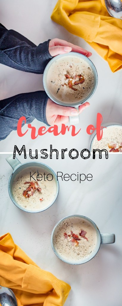 Keto Cream of Mushroom Soup | Easy Keto Dinner Recipe, super creamy and perfect for fighting the keto flu. | #keto #recipe #soup #easy #cream #mushroom