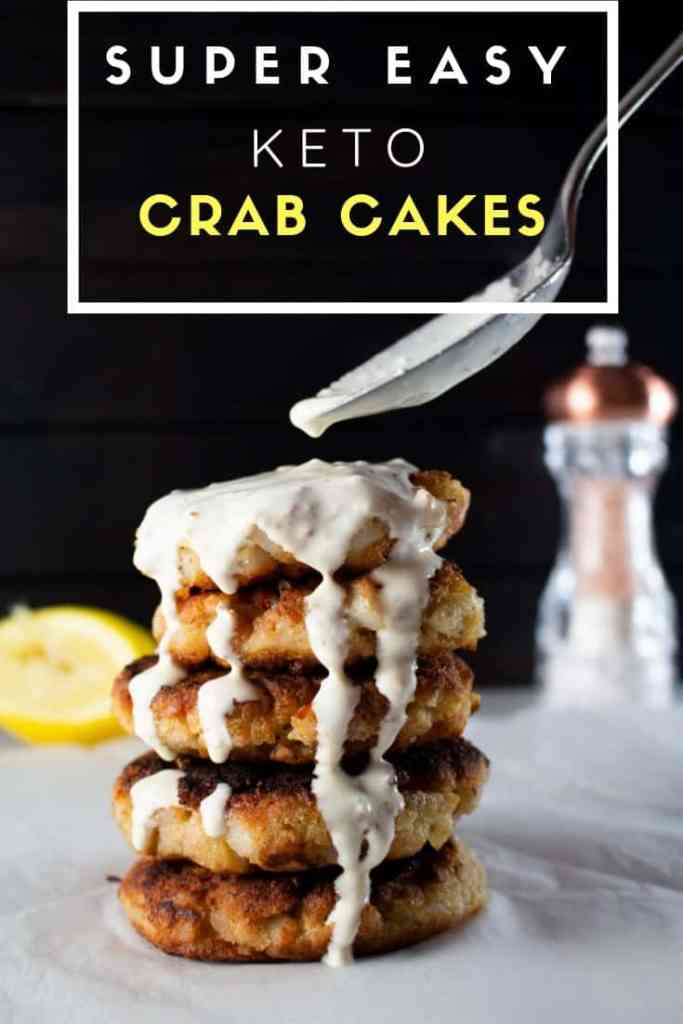 Keto Crab Cakes with a dollop of Lemon Mayonnaise