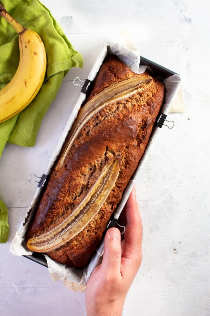 Banana Bread in Baking Pan