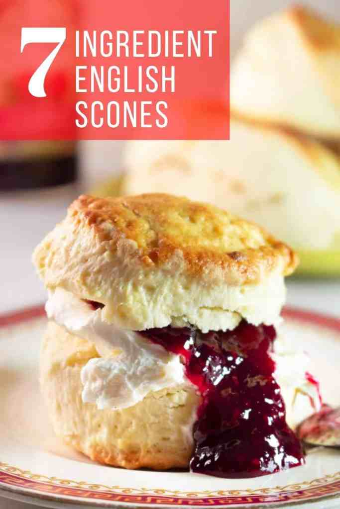 These fluffy English scones are easy to make and a delight to eat. Serve with your favorite Jam and some clotted cream (or cream cheese) and enjoy <3. #scones #english #fluffy #easy #dessert #breakfast