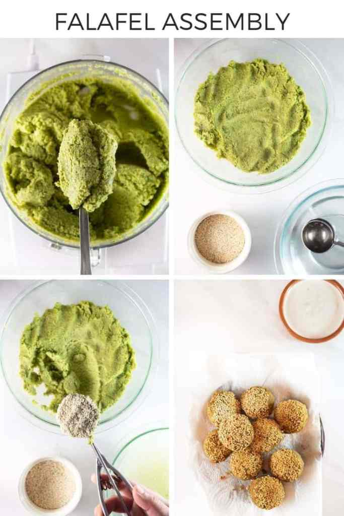 How to make lebanese falafel step-by-step collage