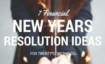 financial new years resolutions for 20-somethings