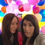 broke girls go out, selfie, balloon wall, the blog connect, funny pose