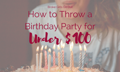 throw a birthday party for under $100