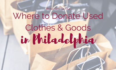 where to donate used clothes and goods in philly