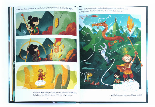 Brownstone's Mythical Collection: Kai and the Monkey King - Joe Todd-Stanton and Flying Eye Books Revisit the Brownstone Lineage in Another Wildly Imaginative Adventure for Younger Readers
