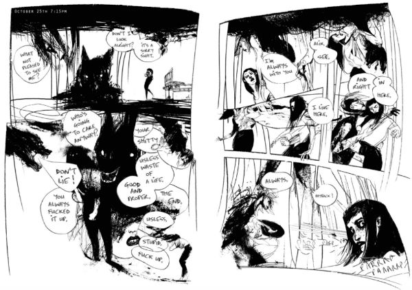 Barking - Mental Health and Grief Explored in the Starkest Visual Metaphor in Lucy Sullivan's Haunting Graphic Novel from Unbound