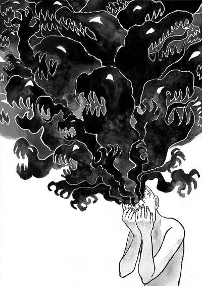 The Black Cloud - Dominique Duong's Powerfully Expressive and Symbolic Depiction of Depression