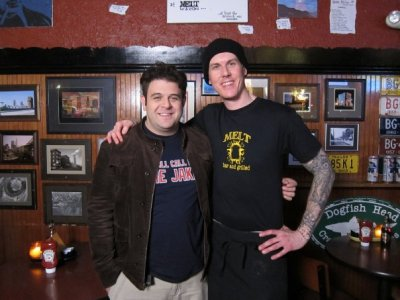 Adam Richman (Man Vs. Food) and Matt Fish (owner of Melt)
