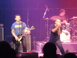 Ben Weasel flanked by Dan Vapid on guitar