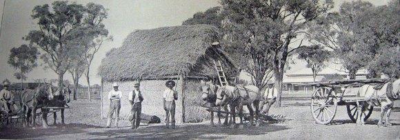 A settler's hut.