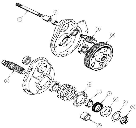 Case 310, 350, 350B Dozer Final Drive Parts